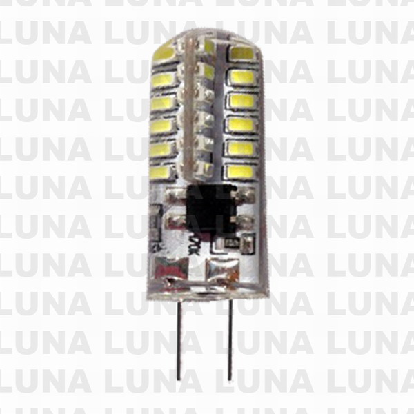 LUNA LED silicon GU5,3  3W 3000K 220V Ø11*27mm 400Lm 1000/100/10 (тёплый белый)